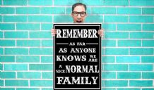 Nice Normal Family Art - Wall Art Print Poster Pick A Size - Humour Art Geekery